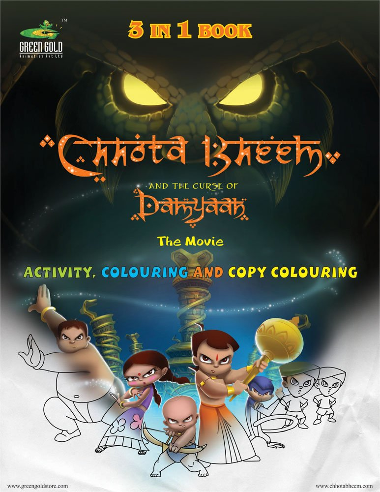 Download Chhota Bheem and the Curse of Damyaan the Movie (Activity, Colouring & Copy Colouring): 3 pdf