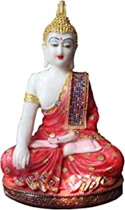 Odishabazaar Meditation Buddha Statue For Car Dashboard Idol Showpeice (5.5x5x1) Inch