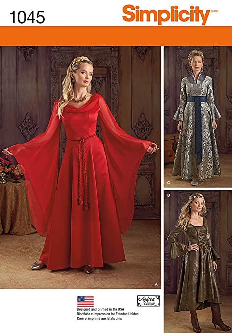 Simplicity Women S Fantasy Dress Halloween Cosplay And Ren Faire Sewing Patterns Sizes 14 20