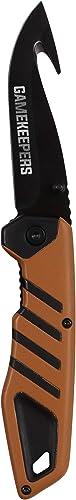 Allen Company – Gamekeepers – Hunting Knife, Drop Point Gut Hook Folding Knife Mossy Oak Orange-Black