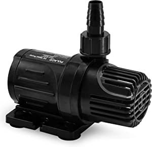 PULACO DC 24V Submersible Water Pump 300 GPH 20 ft (Safety & Energy Saving, Anti-Electric Shock), Ultra Quiet Fountain Pump for Fish Tanks, Aquariums, Ponds, Fountains, Hydroponics and Drainage