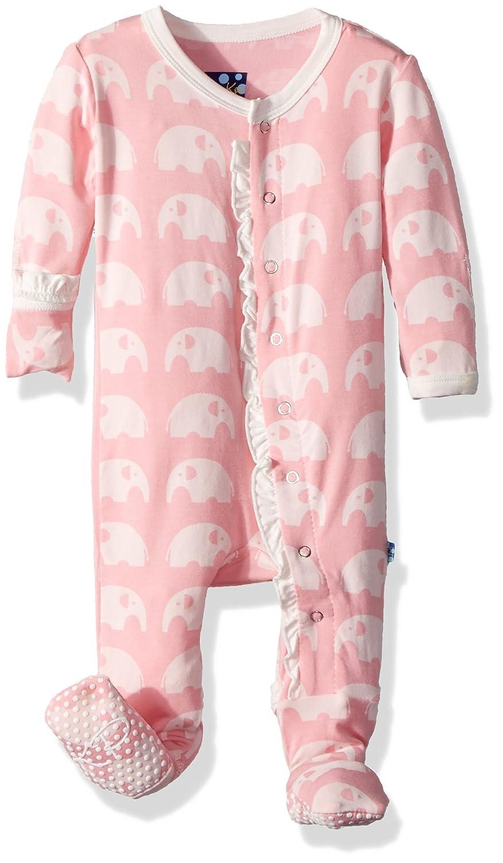 Kickee Pants Baby Girls Essentials Print Muffin Ruffle Footie