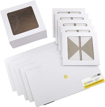 Wilton 416-0-0053 - Cajas para dulces, cartón, blanco, Basic: Amazon.es: Hogar
