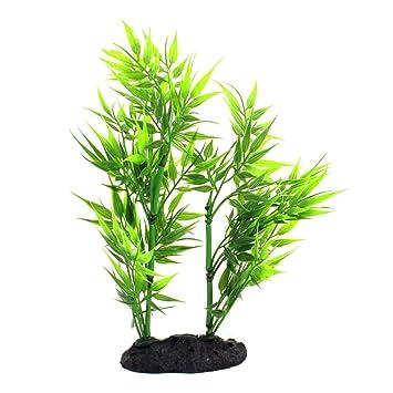 Aquarium Kunstliche Wasser Pflanze Bambus Decor 21 Cm Hohe Grun