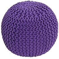 Mega _ Jumble® 100% coton Braid Cordon–faite à la main et cousu à la main Naturel en tricot Pouf repose-pieds Bean garni 100% coton pour le salon enfants ou les personnes âgées