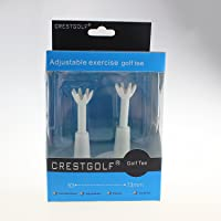 crestgolf ajustable de plástico blanco tees de golf
