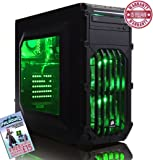 ADMI GAMING PC (AMD FX-6350 Six Core 3.90GHz CPU, NVIDIA GTX 1050 Ti 4GB DDR5 Graphics Card, HDMI, USB3.0, 8GB 1600MHz DDR3 RAM, 1TB Hard Drive, 24x DVDRW, Corsair SPEC-03 Green LED Gaming PC Case, No Operating System)