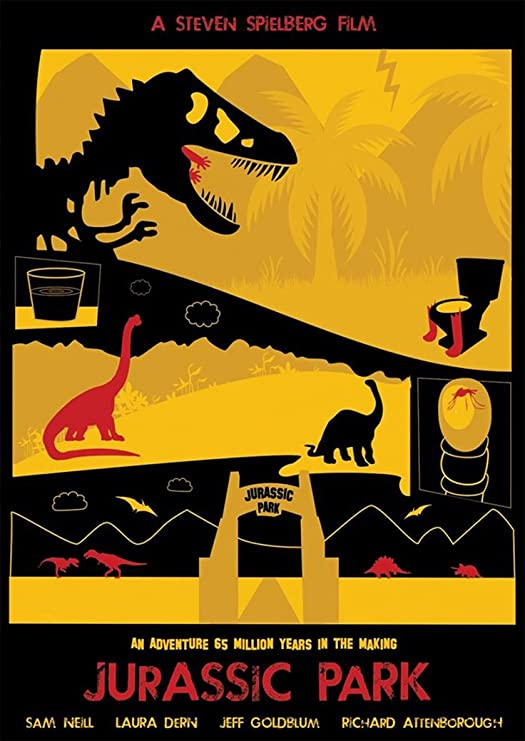 Instabuy Posters Jurassic Park Vintage - Size (42x30 cm ...