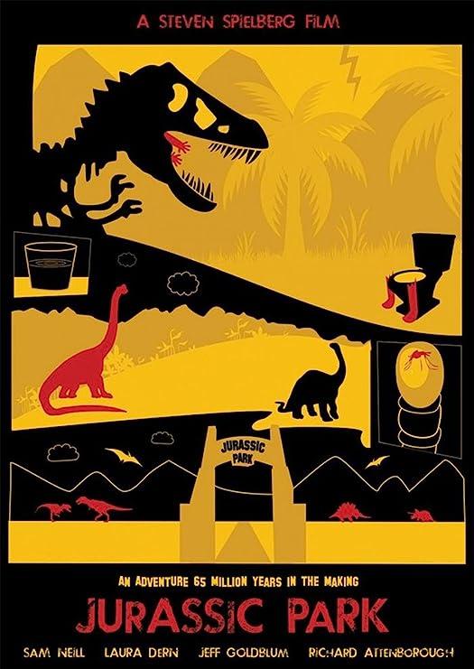 Instabuy Posters Jurassic Park Vintage - Size (42x30 cm ...