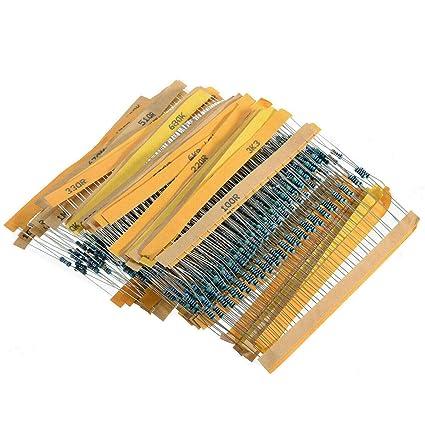 600Stück 30 Werte 1//4W Metallfilm Widerstände Widerstand Sortiment Kit Set 5 /%