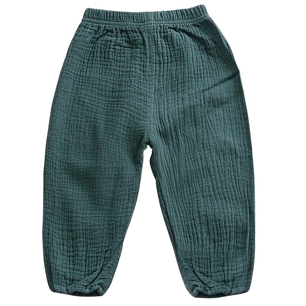 Loveble Unisex Boys Girls Fall//Autumn Elastic Trousers Linen Lantern Pants Harem Pants Age 1-5 Years