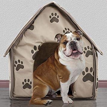 Blue-Yan Pequeño Huella Desmontable para Mascota, casa, Perro, Gato, caseta, Cama, Interior de Felpa, cálido, cojín Plegable, portátil: Amazon.es: Productos ...