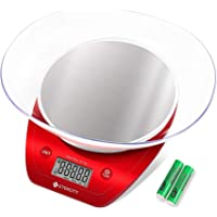 Etekcity Digital Kitchen Scale, Electric Food Weight Scales, Stainless Steel Platform Baking Scale with Removable Bowl…