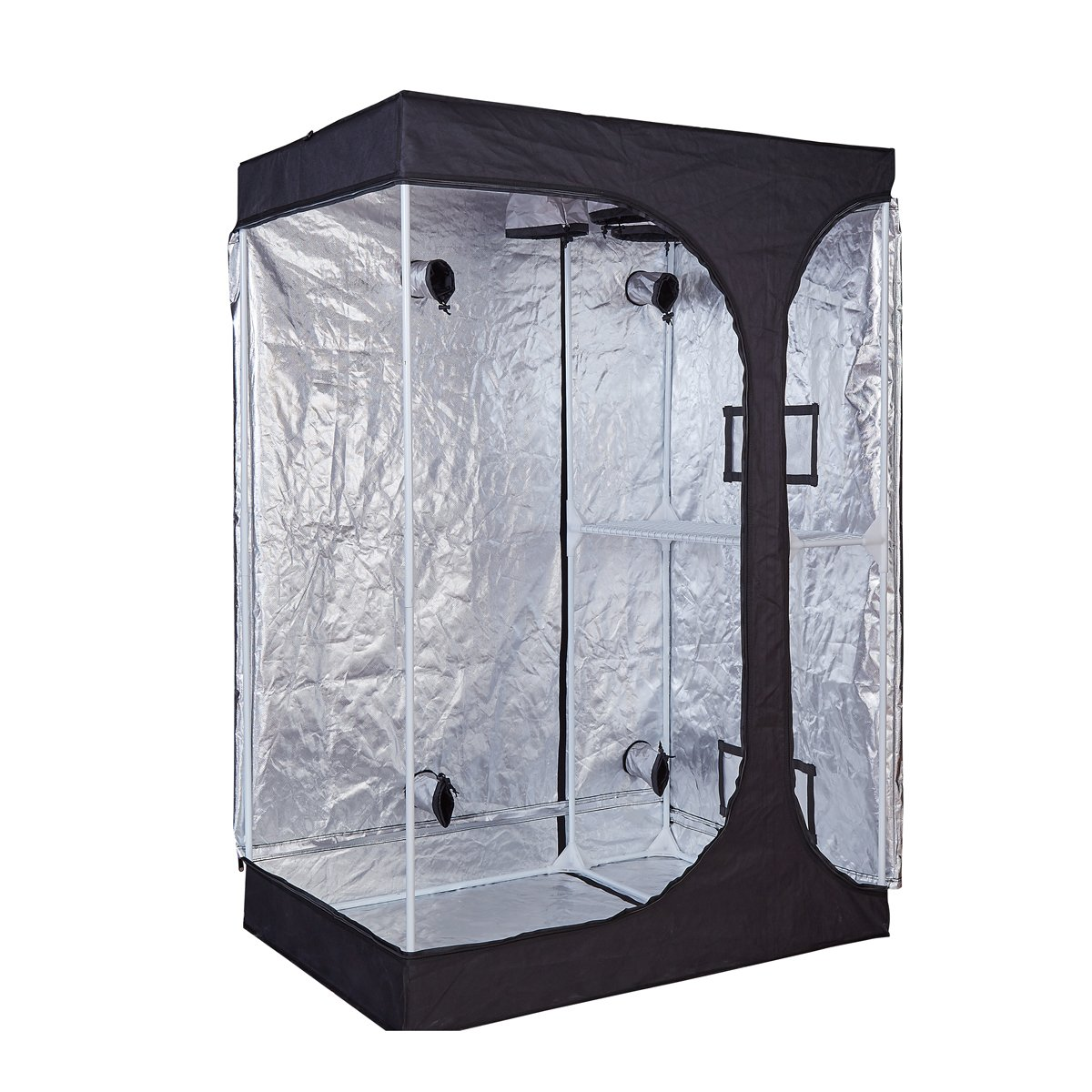 TopoGrow 2-in-1 Indoor Grow Tent 48''x36''x72''600D High-Reflective W/2-Tiered for Lodge Propagation and Flower (48''x36''x72'') by TopoGrow (Image #3)
