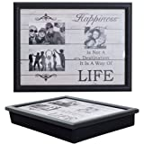 PACK OF 2 Lap Trays with a Bean Bag Base - Photo Frame Laptrays - Add Your Own Photos