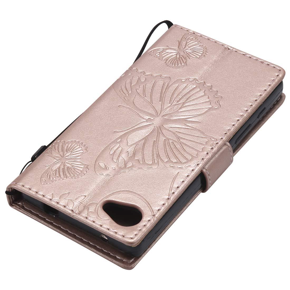 Lyzwn Coque Sony Xperia Z5 MINI//COMPACT Housse en Cuir PU Flip Coque Etui Wallet Case avec Support Cartes Slots Fermeture Aimant/ée pour Sony Xperia Z5 MINI//COMPACT /Étui Motif de Couleur