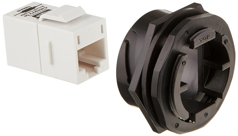 Enerlites Telephone Wall Jacks 1 Gang 6611w Wiring Devices Hubbell Hi5ec Hi Impact Series Jack In Line Coupler Cat5e White Rh Amazon Com