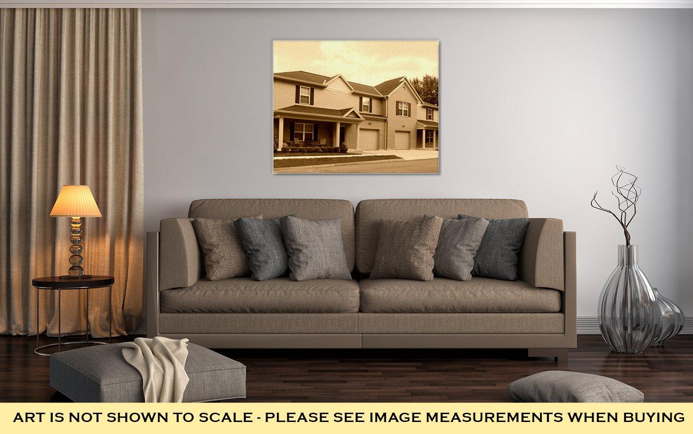 Ashley Canvas Offcampus College Apartments University Of Dayton Dayton Ohio, Wall Art Home Decor, Ready to Hang, Sepia, 16x20, AG6085051