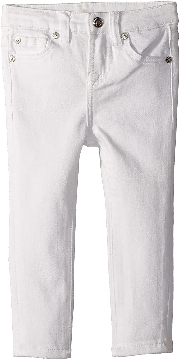 7 For All Mankind Kids Womens The Skinny Jeans in Clean White (Toddler)