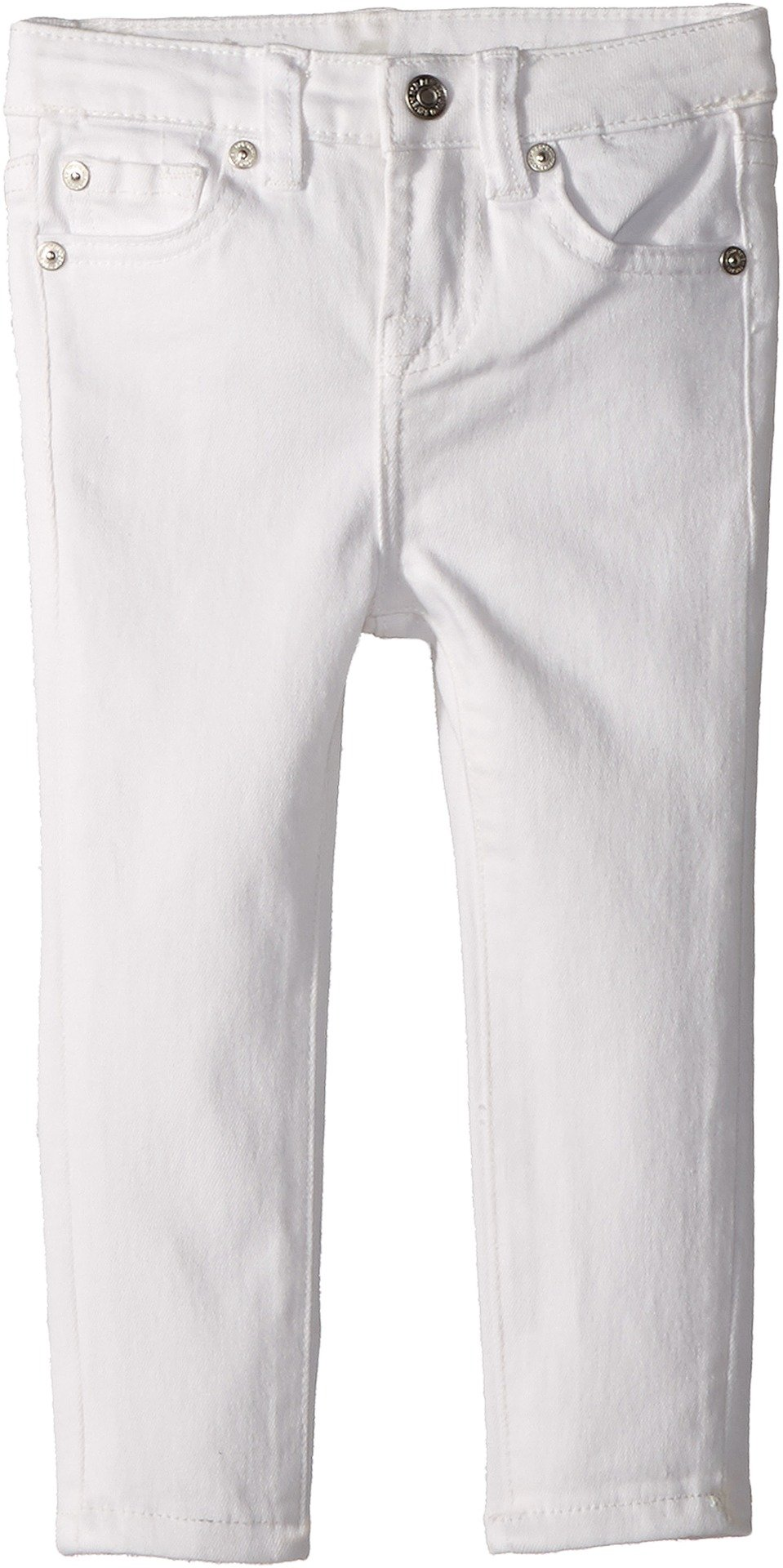 7 For All Mankind Kids Baby Girl's The Skinny Jeans in Clean White (Toddler) Clean White 3T Toddler
