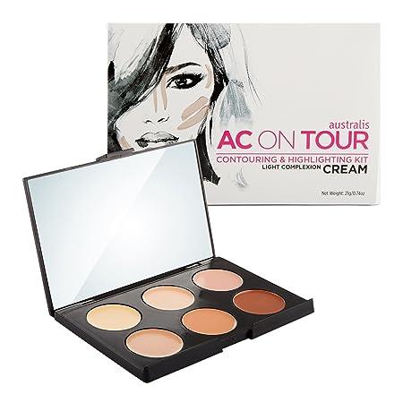 Australis AC ON TOUR Warm Complexion Cream Highlight Natural Glow Makeup Contour Kit