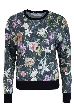 Replay Langarm Sweatshirt Rundhals Allover Druck Blumen