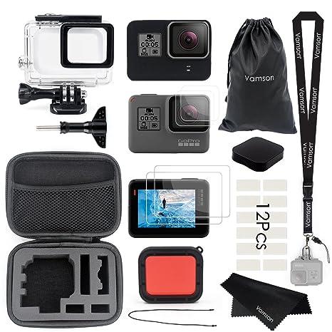 94dd21cc0c2 Vamson Accessories for GoPro Hero 6 5 Black Starter Kit Travel Case Small +  Housing