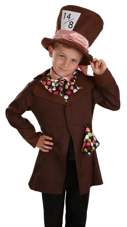 Poco Sombrerero Loco / Alicia en el país de las maravillas - Childrens Disfraz - Medium - 124cm - Edad 6-8: Amazon.es: Juguetes y juegos