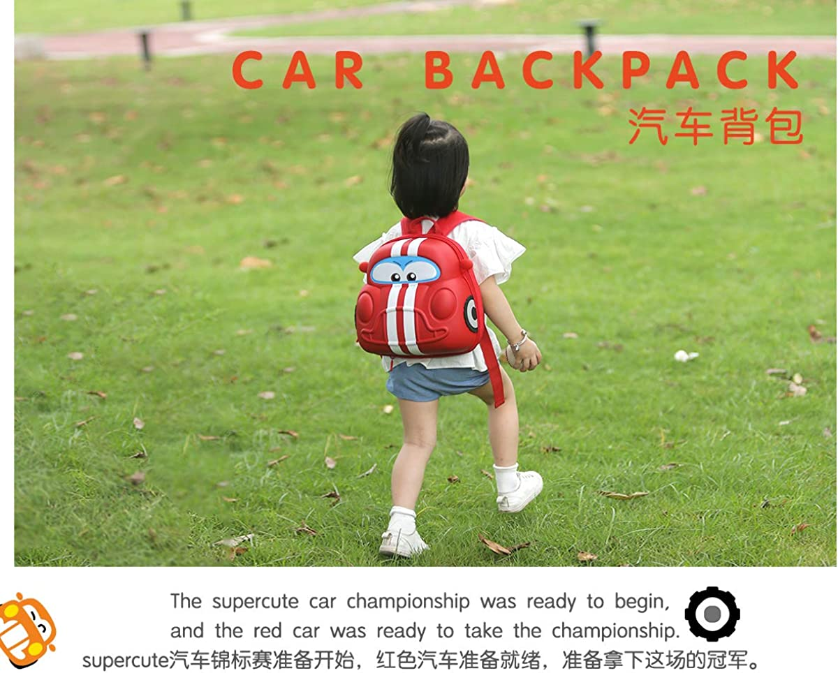 Supercute 3D Car Shape Cartoon Kids Backpack for 1 to 6 Years Old Boys And Girls