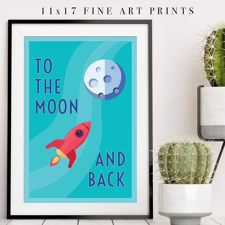 Amazon.com: Pósteres espaciales para niños de Pillow & Toast ...