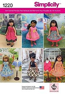 Simplicité Easy sewing pattern 1391 Doll Clothes historique... Gratuit UK p/&p