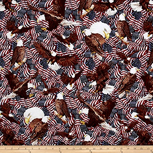 Fabri-Quilt American Pride Eagles and Flags Multi Fabric by