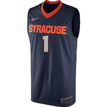 Nike Syracuse Orange 1 Elite Replica Basketball Jersey Navy Blue