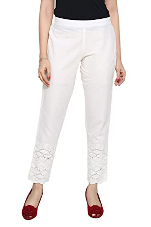 5e483982208 pdpm Cambric Cotton White semi Formal Pants Casual Trousers  Amazon ...