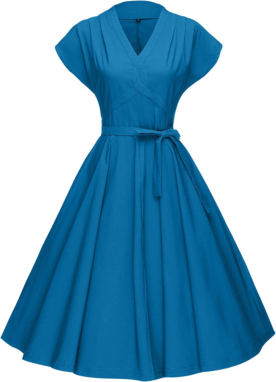 1950s Dresses, 50s Dresses | 1950s Style Dresses GownTown Womens 1950s Vintage Rockabilly Swing Stretchy Dress $32.98 AT vintagedancer.com