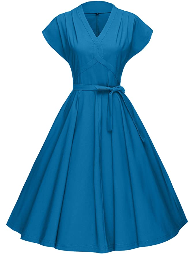 500 Vintage Style Dresses for Sale | Vintage Inspired Dresses GownTown Womens 1950s Vintage Rockabilly Swing Stretchy Dress $34.98 AT vintagedancer.com