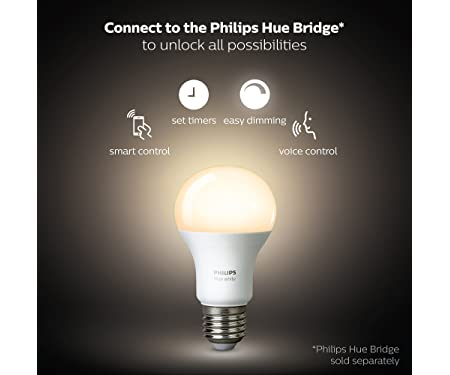 Philips Hue White A19 LED Smart Bulbs 472027