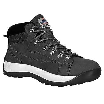 Portwest Steelite - Zapatos de seguridad de media caña en piel nobuk para hombre, 47