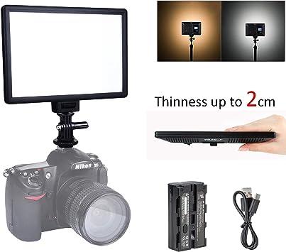 Viltrox ULTRA SOTTILE LED Luce Video dimmerabile pannello luce della fotocamera per fotocamere DSLR