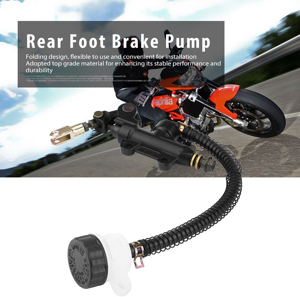 Folding Rear Foot Brake Hydraulic Master Cylinder Pump Reservoir for Suzuki Kawasaki Honda Rear Foot Brake Pump