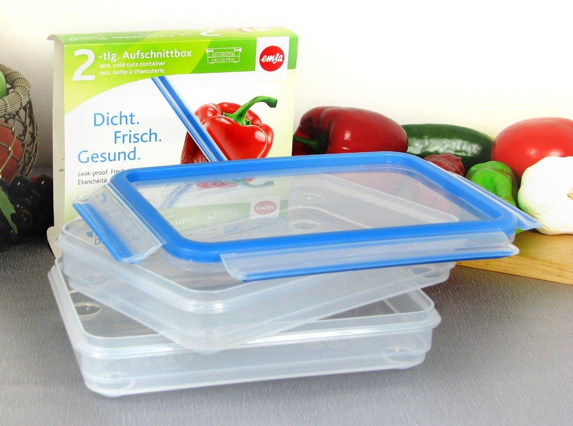 Kühlschrank Aufschnittbox : Aufschnittbox frischhaltebox 2er set je 2 teilig emsa clip