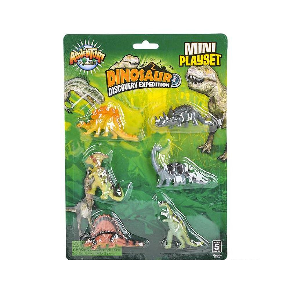 6 Pc Small Dinosaur Set (With Sticky Notes)