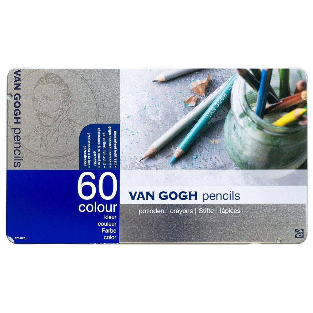 Amazon 60 Color Pencil Set Van Gogh Metal Cased Japan Import Toys Games