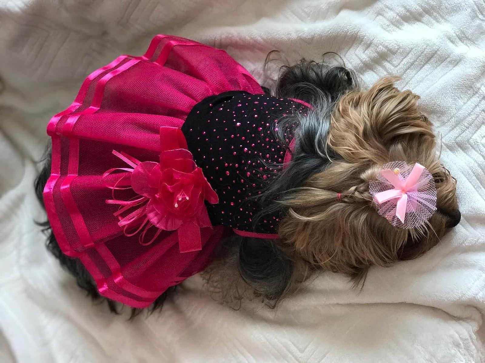 Topsung Small Dog Clothes Dress Blingbling Tutu - 6
