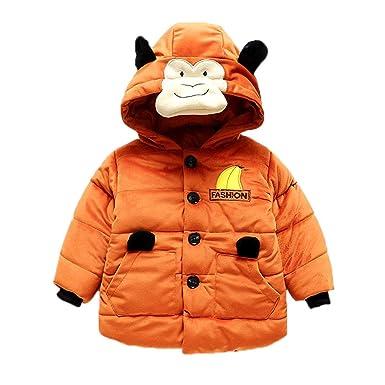 5da8ec8f2fee Amazon.com  Baby Boy Girl Cartoon Long Sleeve Monkey Hoodie Winter ...