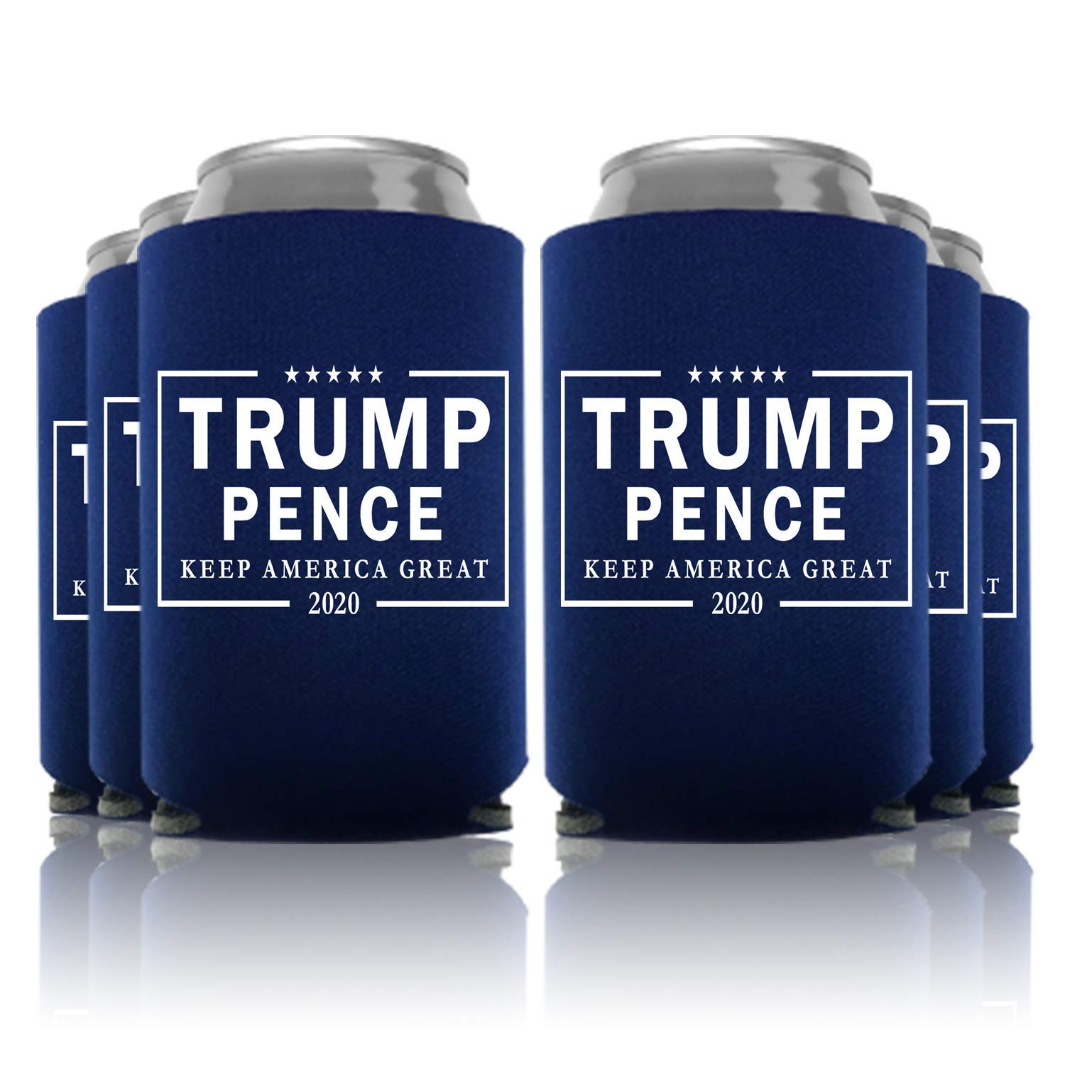 Trump - Pence 2020 Keep America Great Can Coolers Party Favor, Navy, 24 Pc