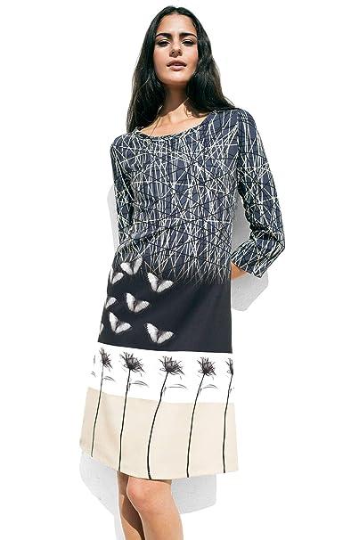 Con Vestido Neopreno Estampado Midi De Mariposas Matita Mujer JTKclF1