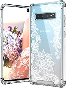 Cutebe Case for Galaxy S10 Plus,Shockproof Series Hard PC+ TPU Bumper Protective Cover for Samsung Galaxy S10 Plus 6.4 Inch 2019 Release Crystal