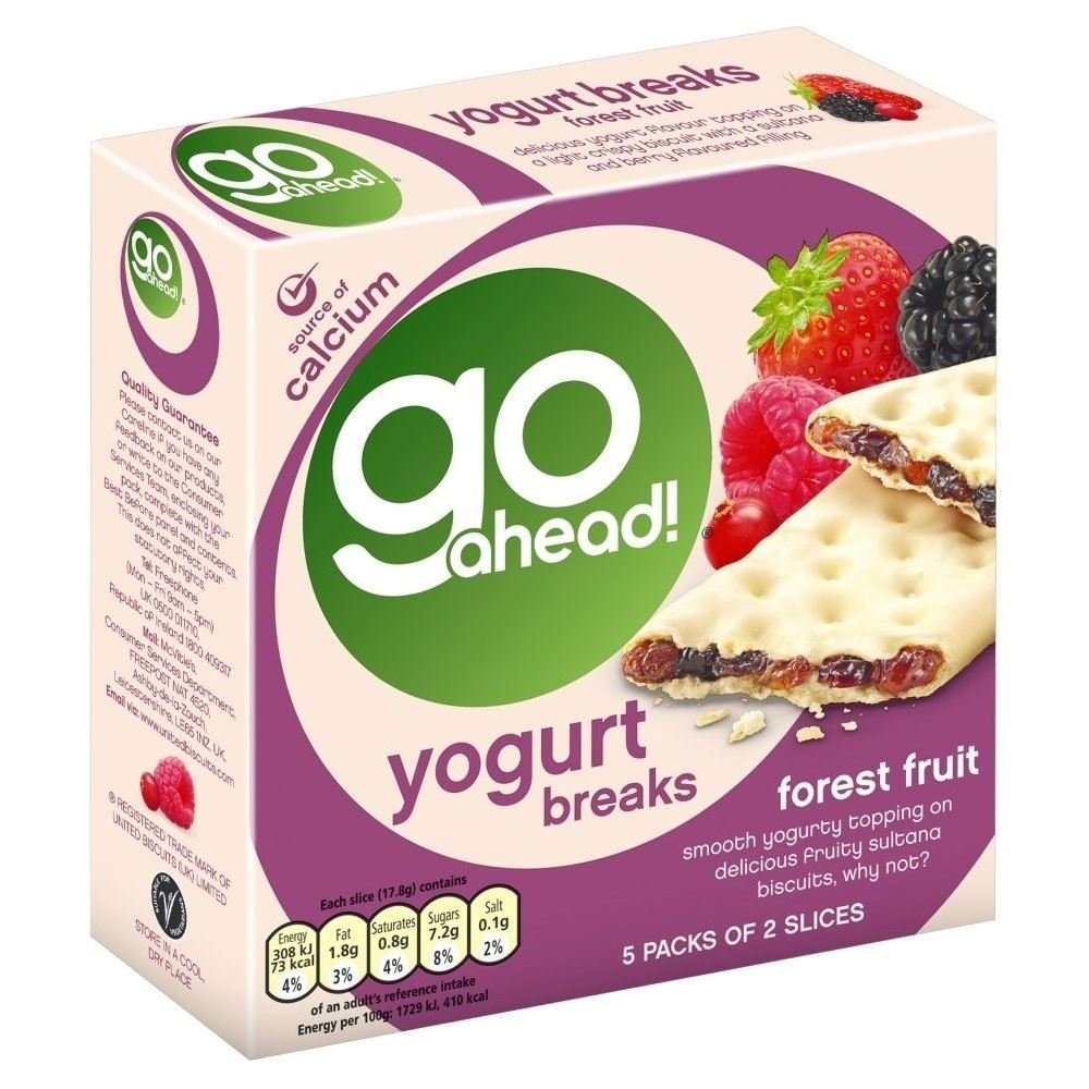 McVitie's Go Ahead! Yogurt Breaks - Forest Fruit (6 per pack - 177g) Groceries