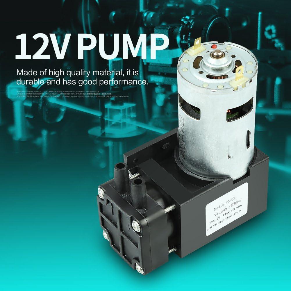 aire Mini bomba de vac/ío de 1 pieza agua y gas flujo de 85KPa 40L//min DC 12V 42W Peque/ño motor de bomba de vac/ío sin gas